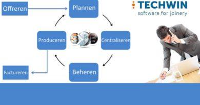 Techwin | Werken in fases