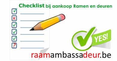 Checklist voor buitenschrijnwerk