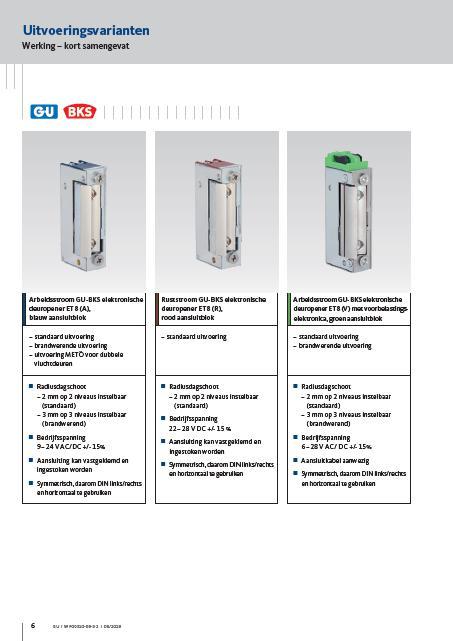 ET8 elektrische deuropener
