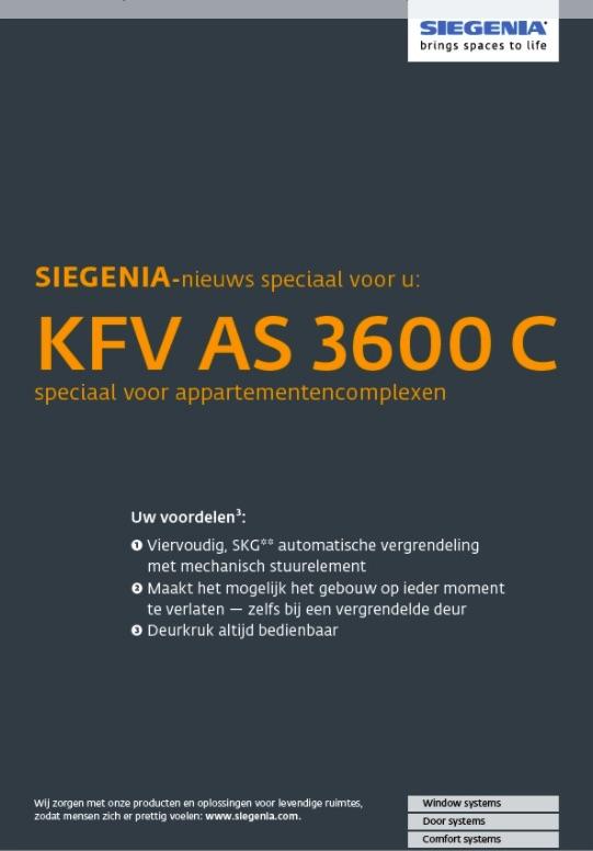 KFV as 3600 c sloten siegenia